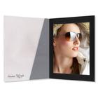 Fotomappe Bi-Color für 15x20 cm - transparent schwarz gerippt Produktbild