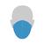 """Mund/Nase Abdeckungen, """"Behelfsschutzmasken"""" Standard Verpackungseinheit 10 Stück Produktbild Additional View 4 2XS"""