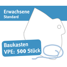 """Baukasten Mund/Nase Abdeckungen, """"Behelfsschutzmasken"""" Standard, Verpackungseinheit 500 Stück Produktbild"""