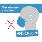 """Mund/Nase Abdeckungen, """"Behelfsschutzmasken"""" klein/Kinder Verpackungseinheit 10 Stück Produktbild"""