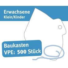 """Baukasten Mund/Nase Abdeckungen, """"Behelfsschutzmasken"""" klein/Kinder, Verpackungseinheit 500 Stück Produktbild"""