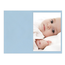 Falt- / Doppelkarte zino baby blue 21x29,7 cm 160g/m² Produktbild