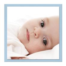 Einzelkarte zino baby blue 16x16 cm 280g/m² Produktbild