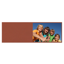 Falt- / Doppelkarte zino Terracotta 10,5x31 cm 280g/m² Produktbild