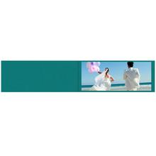 Falt- / Doppelkarte lavinia Turquoise 9x45 cm 300g/m² Produktbild