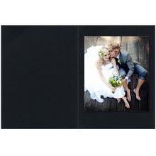 Falt- / Doppelkarte lavinia Black 10,5x31 cm 300g/m² Produktbild