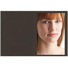 Falt- / Doppelkarte lavinia Dark Brown 10,5x31 cm 300g/m² Produktbild