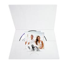 DVD/CD-Tasche für CD und Pass-Bewerbungsbilder - elfenbeinweiß mit Struktur Produktbild