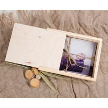Rechteckige Fotobox aus Holz für 13x18 cm Fotos Produktbild
