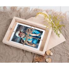 Rechteckige Fotobox aus Holz für 23x15 cm Fotos / Alben Produktbild