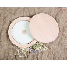 Runde Box aus Holz für CD/DVD Produktbild