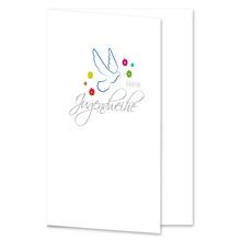 Einladungs- Danksagungskarte ohne Passepartout - Jugendweihe Taube für 10x15 cm  Produktbild