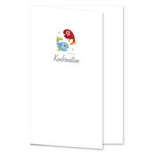 Einladungs- Danksagungskarte ohne Passepartout - Konfirmation Fische für 10x15 cm  Produktbild
