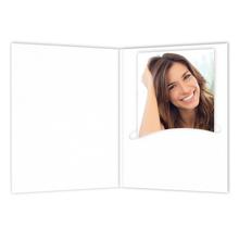 Mini Passbildmappen weiß matt Produktbild
