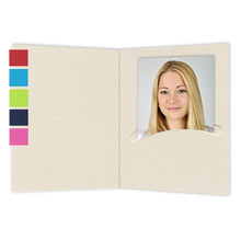 Mini Passbildmappen farblich / weiss Produktbild