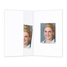Passbildmappe mit Passepartout weiß matt Produktbild