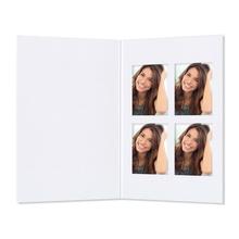 Passbildmappen mit 4er Passepartouts weiß matt Produktbild