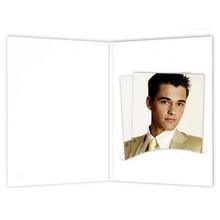 Bewerbungsbildmappen nur Einsteckschlitz 7x10 cm weiß matt Produktbild