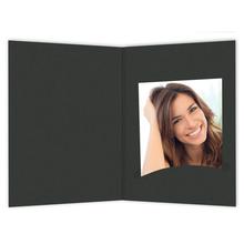 Bewerbungsbildmappen nur Einsteckschlitz 7x10 cm schwarz Produktbild