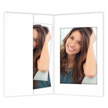 Bewerbungsbildmappen mit Passepartout für 6x9 cm weiß matt Produktbild
