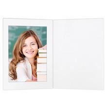 Eventmappen ohne Tasche 13x18  cm weiß matt Produktbild