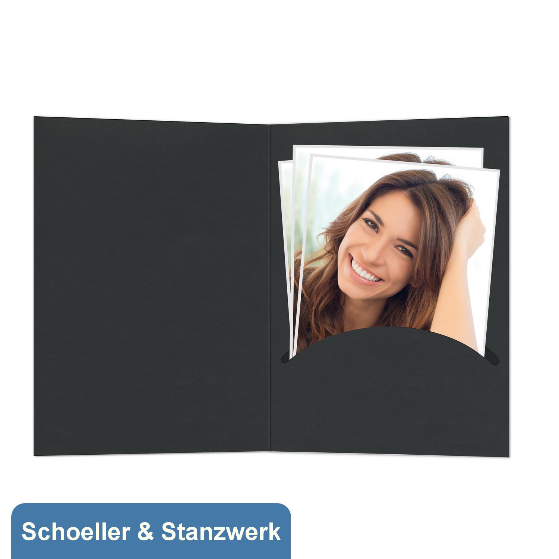Portrait 13x18 schwarz mit Passepartout und Schlitz