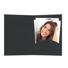 Portraitmappen nur  Einsteckschlitz 13x18 cm schwarz Produktbild