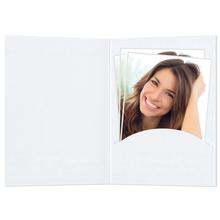 Portraitmappen nur  Einsteckschlitz 10x15 cm weiß matt Produktbild
