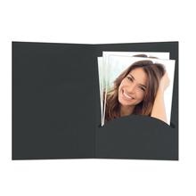 Portraitmappen nur  Einsteckschlitz 10x15 cm schwarz Produktbild