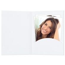 Portraitmappen nur Einsteckschlitz 15x20 cm weiß matt Produktbild