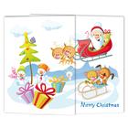 Schulfotomappe / Kindergartenmappe Weihnachtsmann 13x18 cm Produktbild
