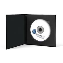 Momentum DVD-Cover für 1 DVD Akilea Uno 16x16 Velours schwarz Produktbild