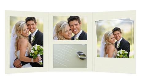 Momentum 3 tlg. Fotomappe mit Passepartouts für 13x18 cm/15x20 cm/20x30 cm zum Konfigurieren - creme Produktbild