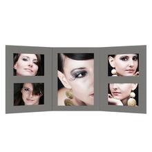 Momentum 3 tlg. Fotomappe mit Passepartouts für 13x18 cm/15x20 cm/20x30 cm zum Konfigurieren - anthrazit Produktbild