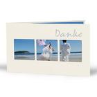 Momentum Foto-Designkarte Leeni mit 3 Ausschnitten und Druck Danke für 10x15 cm - creme Produktbild