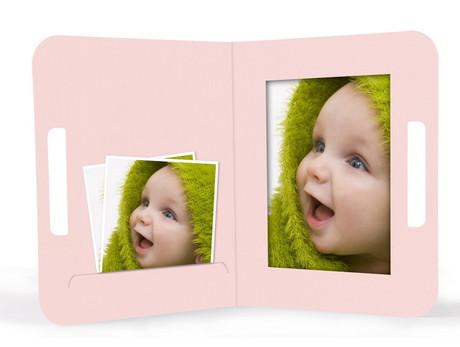 "Momentum Fototasche mit Griff ""Uma"" 13x18 babyrosa Produktbild"