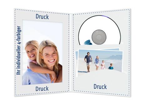 Individuell bedruckbare DVD/CD Fotomappe für 13x18 cm - 4-farbig bedruckbar - 100 Stück Produktbild