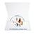 Individuell bedruckbare DVD/CD Tasche für CD, Paß- und Bewerbungsbilder - 4-farbig bedruckbar - 100 Stück Produktbild Front View 2XS