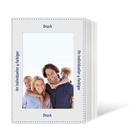 Individuell bedruckbares Endlosleporello für 13x18 cm - weißer Rückteil - 4-farbig bedruckt - 100 Stück Produktbild