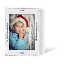 Individuell bedruckbares Endlosleporello für 15x20 cm - weißer Rückteil - 4-farbig bedruckt - 100 Stück Produktbild