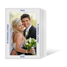 Individuell bedruckbares Endlosleporello für 20x30 cm - weißer Rückteil - 4-farbig bedruckt - 100 Stück Produktbild