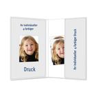 Individuell bedruckbare Passbildmappe mit Ausschnitt 32x42 mm & Tasche - 4-farbig bedruckbar - 100 Stück Produktbild