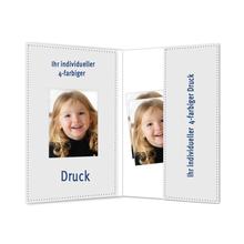 Individuell bedruckbare Passbildmappe mit Ausschnitt 35x50 mm & Tasche - 4-farbig bedruckbar - 100 Stück Produktbild