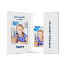 Individuell bedruckbare Passbildmappe mit Ausschnitt 40x55 mm & Tasche - 4-farbig bedruckbar - 100 Stück Produktbild