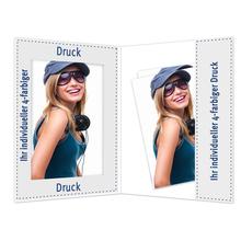Individuell bedruckbare Portraitmappe mit Tasche für 10x15 cm - 4-farbig bedruckbar - 100 Stück Produktbild