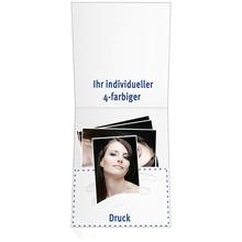 Individuell bedruckbare Kombimappe für Pass- und Bewerbungsbilder - 4-farbig bedruckbar - 100 Stück Produktbild