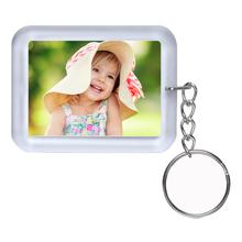 Schlüsselanhänger für Paßbilder 4,6x3,2 cm - iceblau Produktbild
