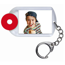Schlüsselanhänger für Paßbilder 4,6x3,2 cm mit Chip-Klassiker - ice-look Produktbild